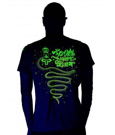 AUM NAMAH SHIVAYA Mantra UV Glow Men's Cotton T-Shirt