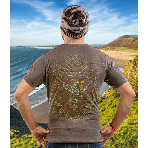 GANESHSA Mantra UV Glow Psy Men's Cotton T-Shirt